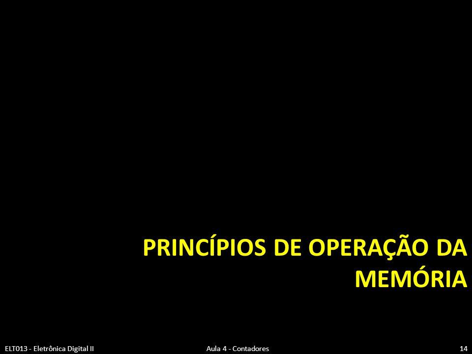 Princípios de operação da memória
