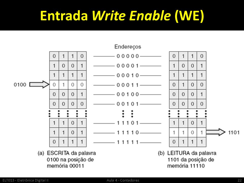 Entrada Write Enable (WE)