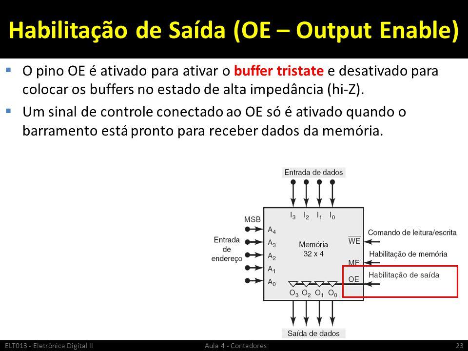 Habilitação de Saída (OE – Output Enable)