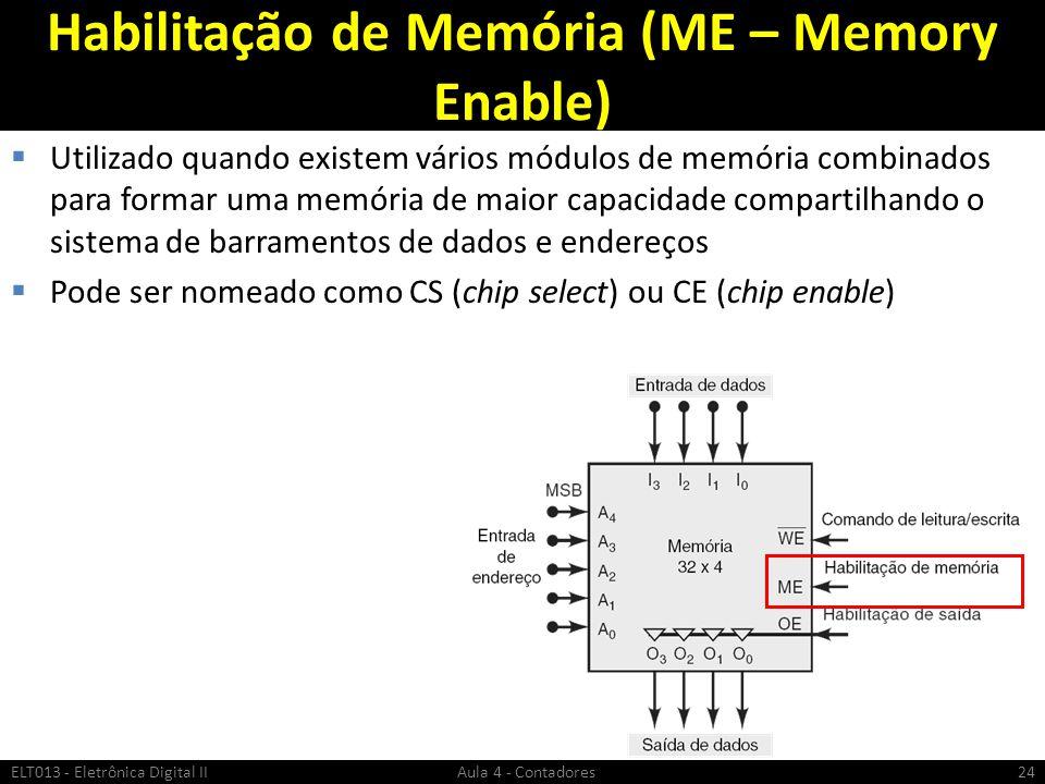 Habilitação de Memória (ME – Memory Enable)