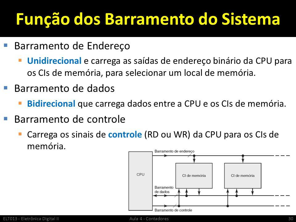 Função dos Barramento do Sistema