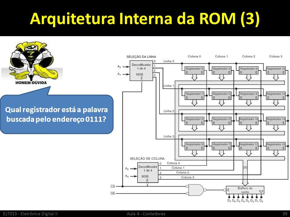 Arquitetura Interna da ROM (3)