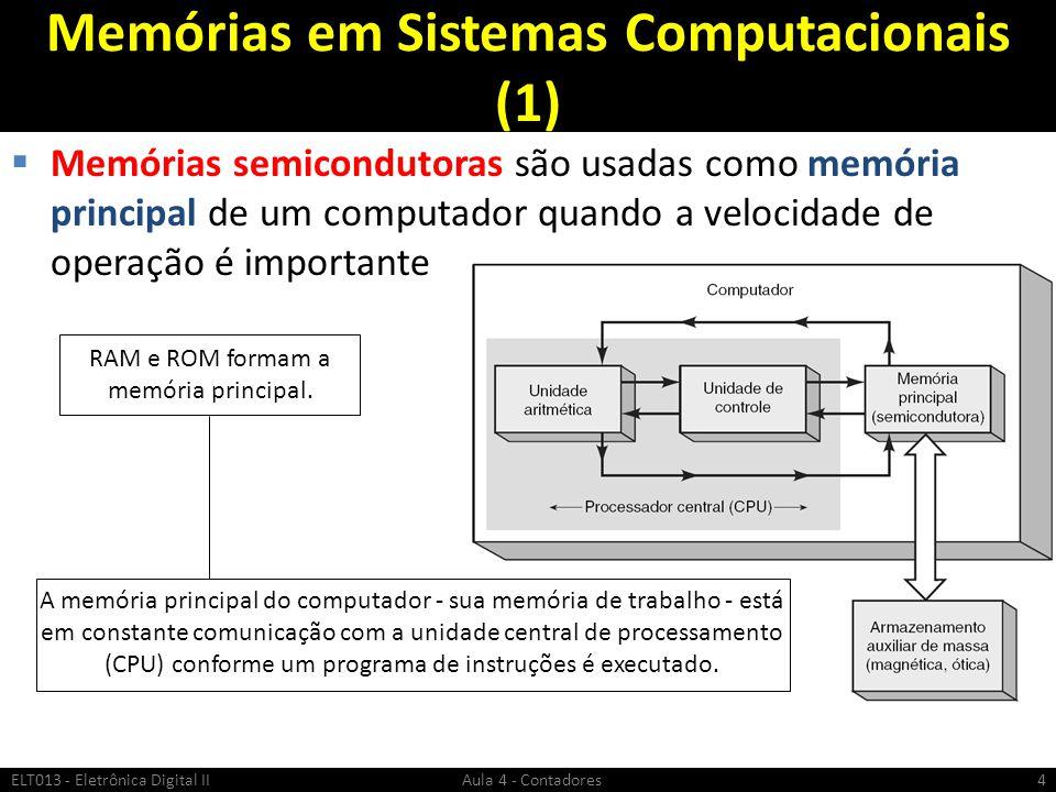Memórias em Sistemas Computacionais (1)