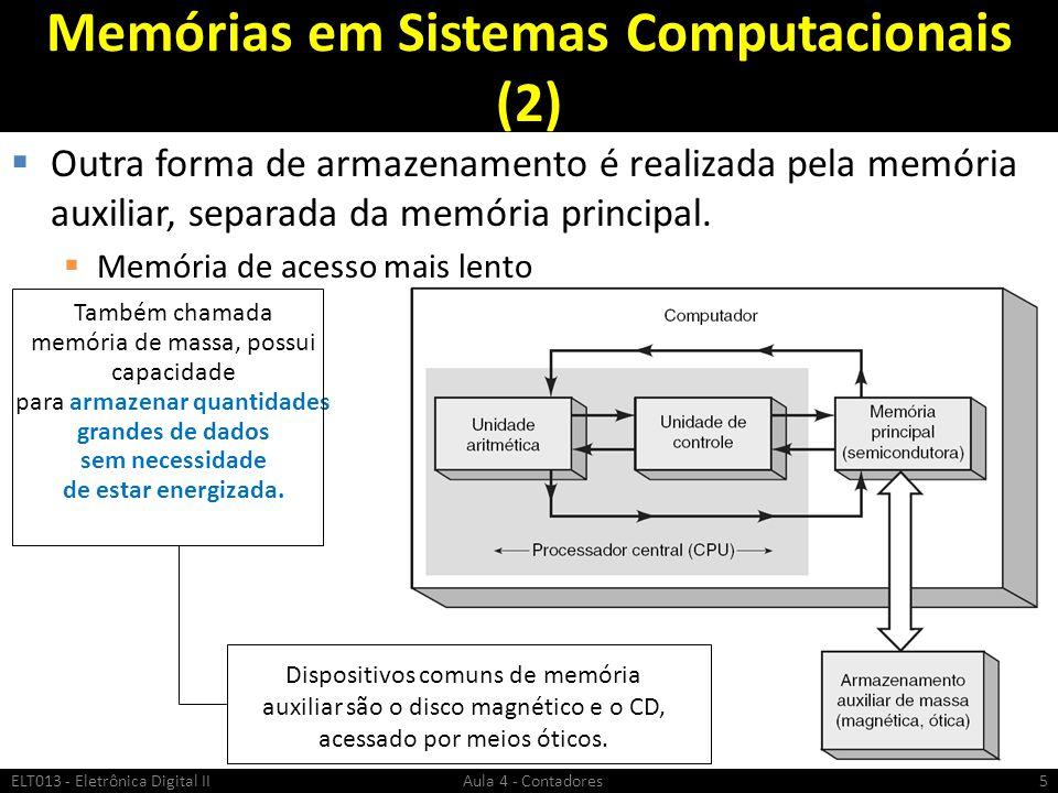 Memórias em Sistemas Computacionais (2)