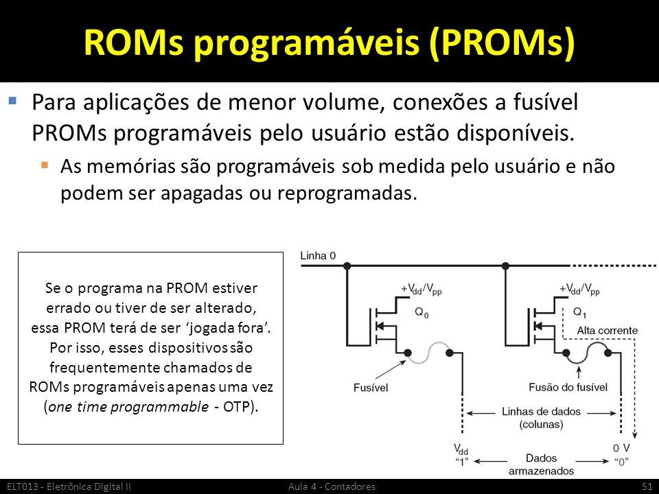 ROMs programáveis (PROMs)