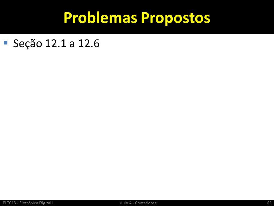 Problemas Propostos Seção 12.1 a 12.6