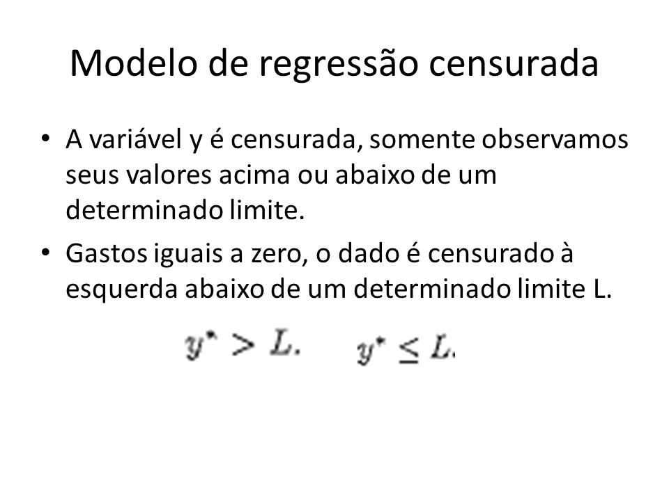 Modelo de regressão censurada