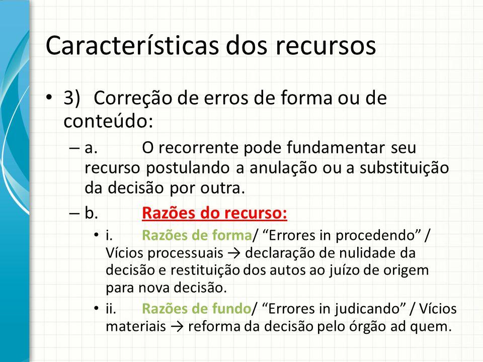 Características dos recursos