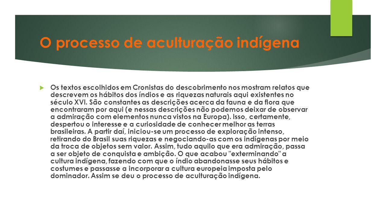 O processo de aculturação indígena