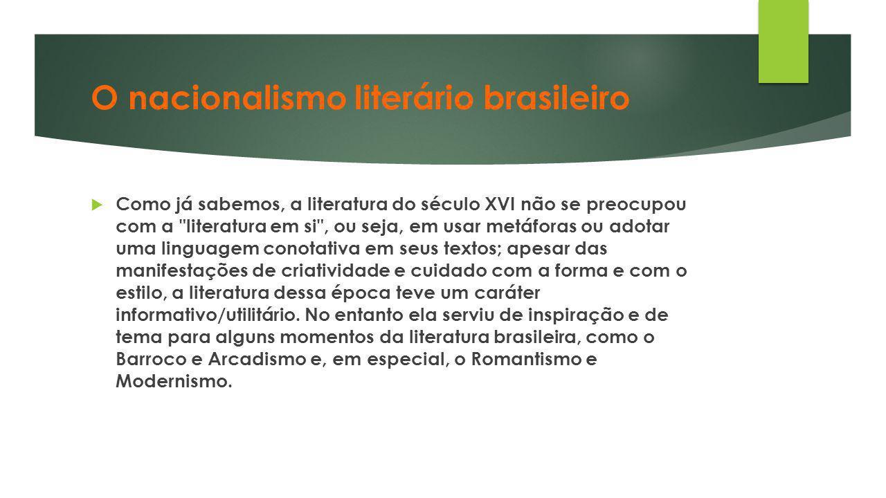 O nacionalismo literário brasileiro