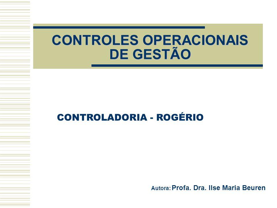 CONTROLES OPERACIONAIS DE GESTÃO