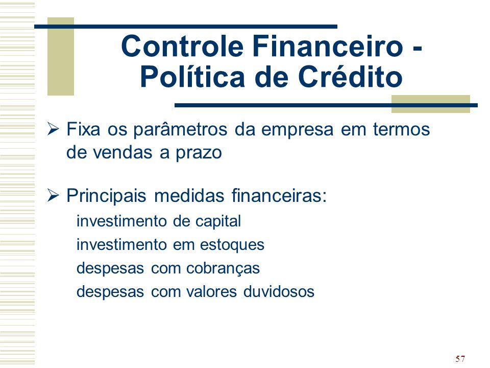 Controle Financeiro - Política de Crédito