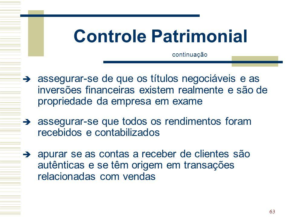 Controle Patrimonial continuação.