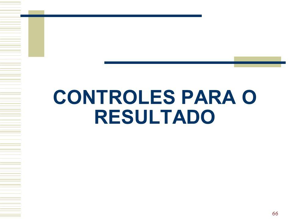 CONTROLES PARA O RESULTADO