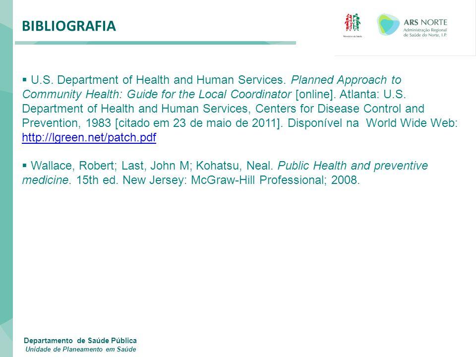 Departamento de Saúde Pública Unidade de Planeamento em Saúde
