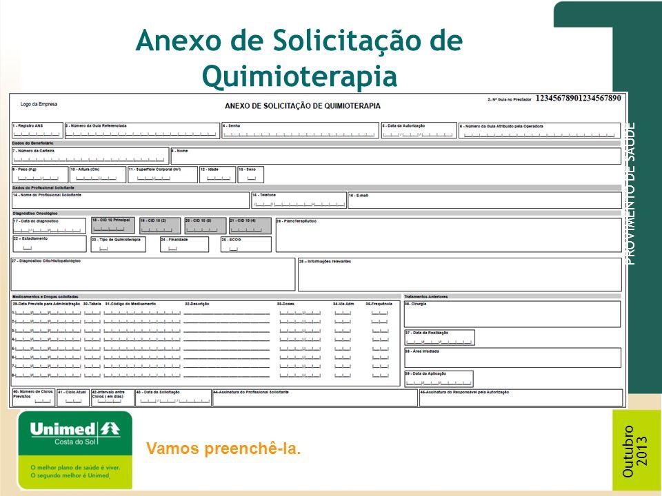 Anexo de Solicitação de Quimioterapia