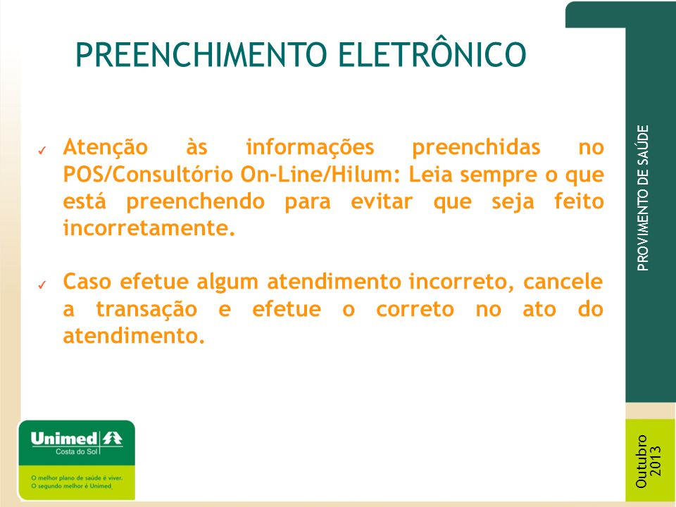 PREENCHIMENTO ELETRÔNICO