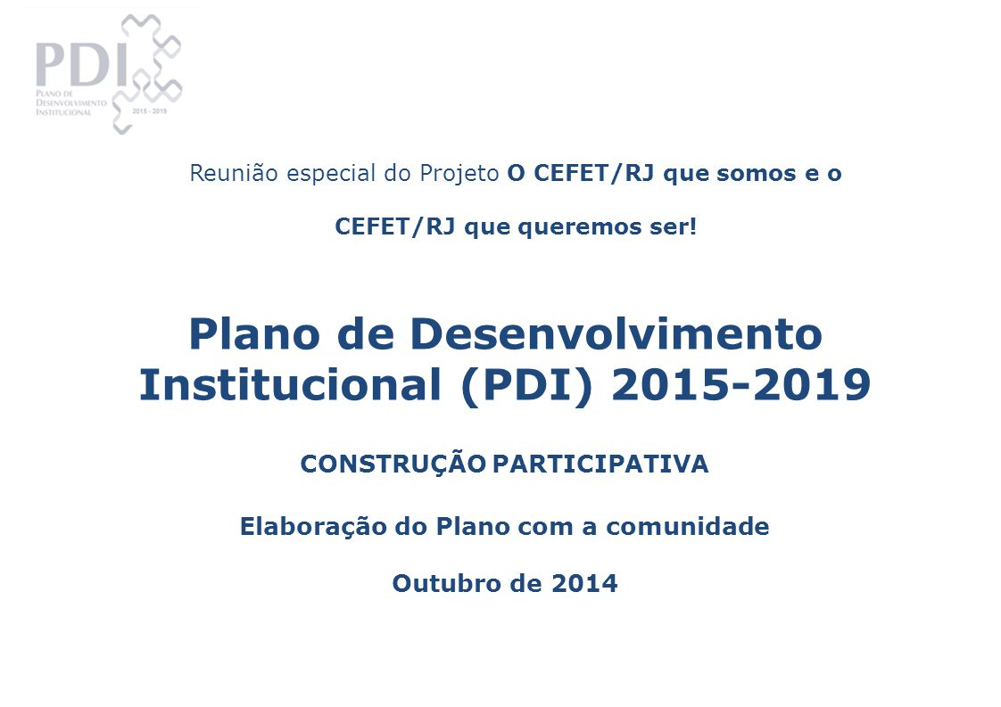 Plano de Desenvolvimento Institucional (PDI) 2015-2019