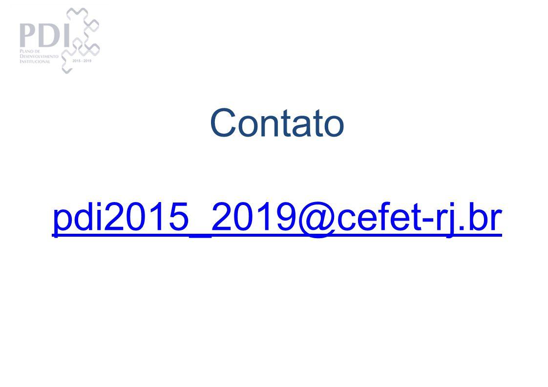 Contato pdi2015_2019@cefet-rj.br