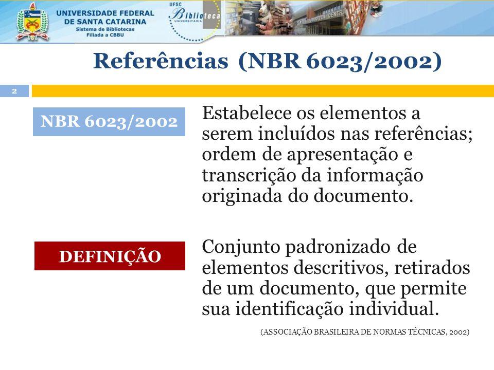 Referências (NBR 6023/2002)