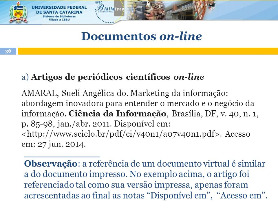 Documentos on-line ____________