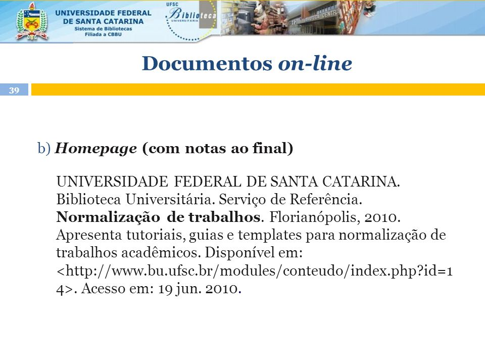 Documentos on-line