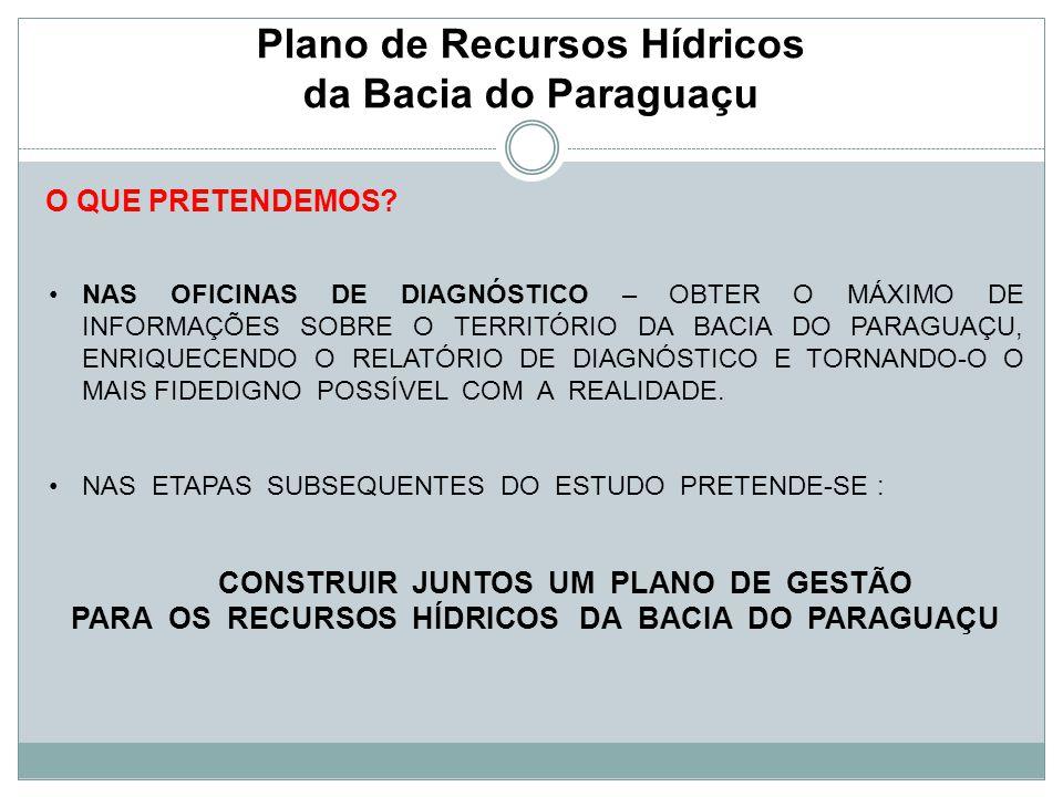Plano de Recursos Hídricos da Bacia do Paraguaçu