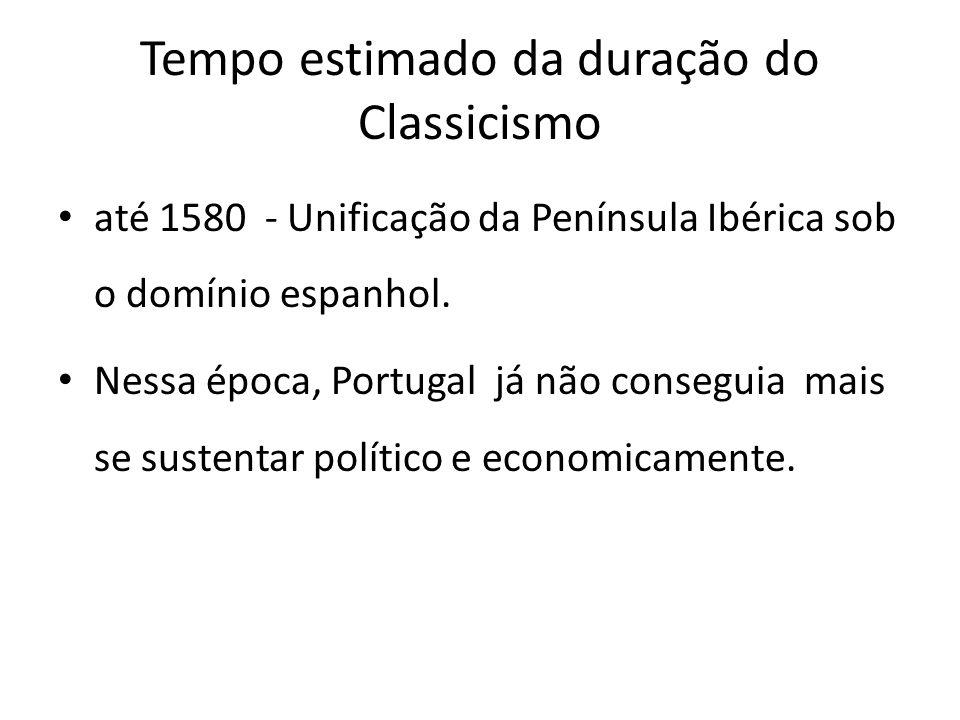 Tempo estimado da duração do Classicismo