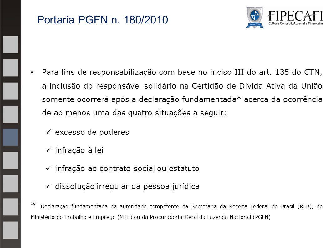 Portaria PGFN n. 180/2010
