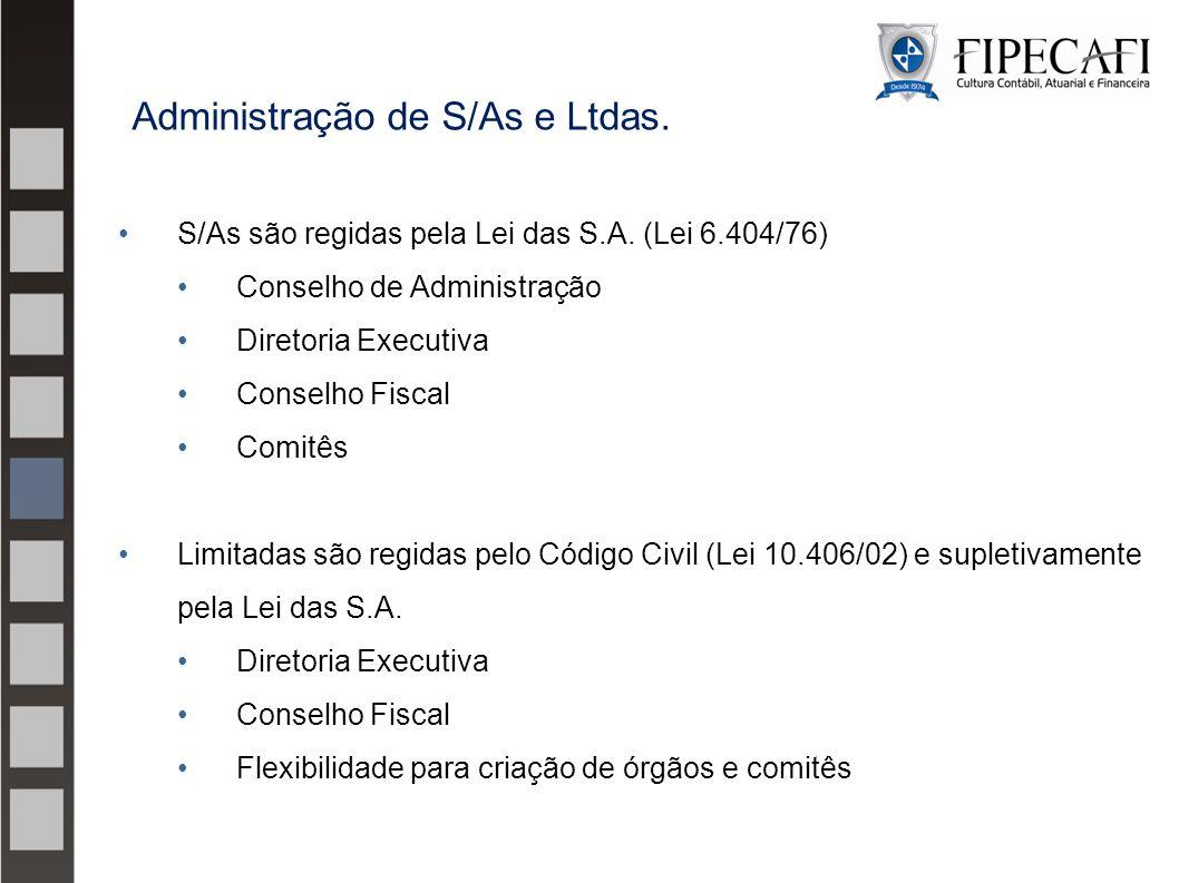 Administração de S/As e Ltdas.