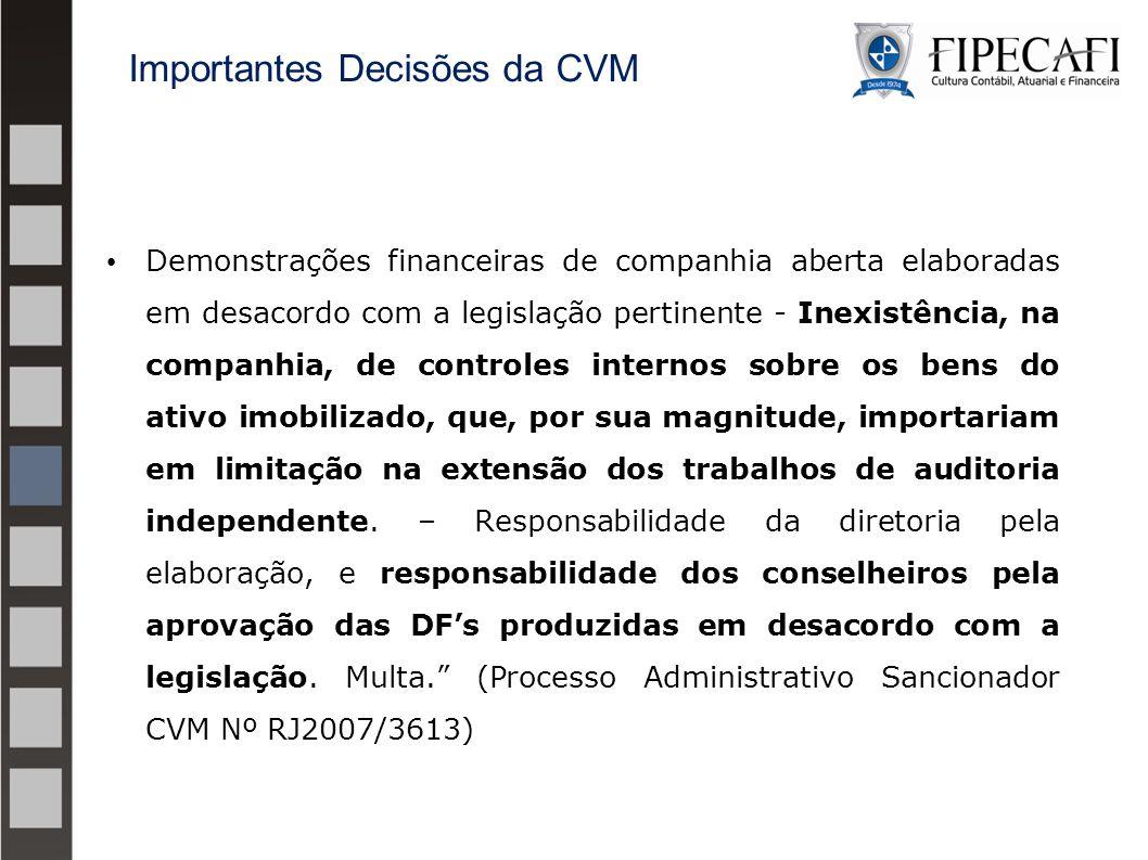 Importantes Decisões da CVM