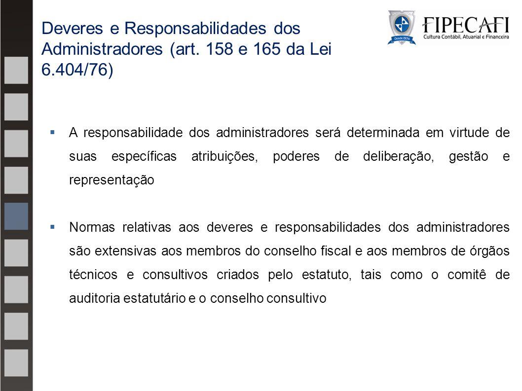 Deveres e Responsabilidades dos Administradores (art