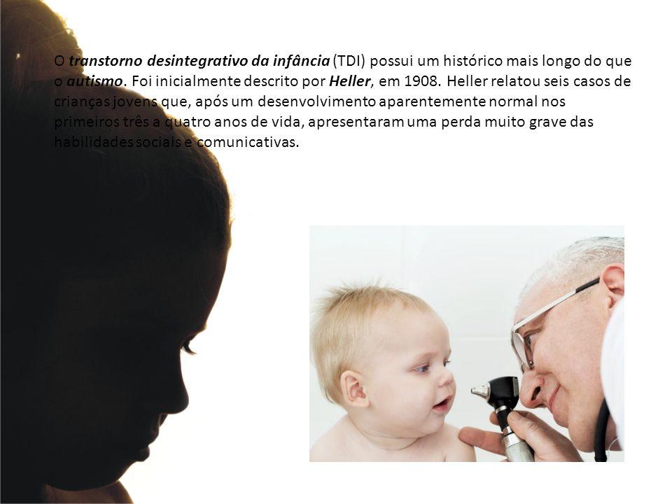 O transtorno desintegrativo da infância (TDI) possui um histórico mais longo do que o autismo.