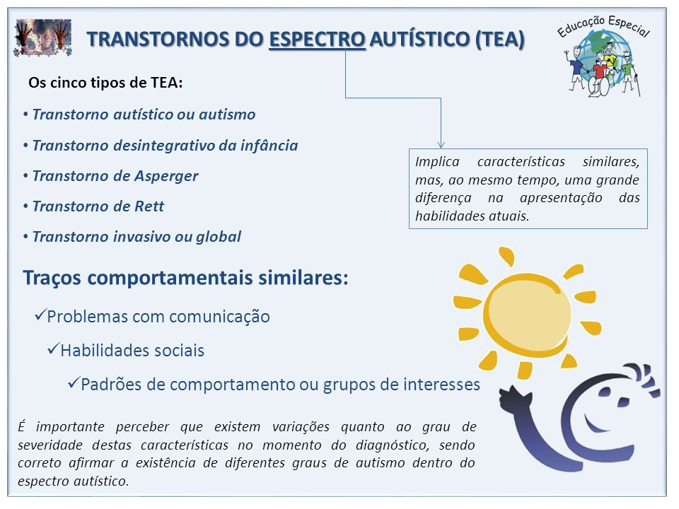TRANSTORNOS DO ESPECTRO AUTÍSTICO (TEA)