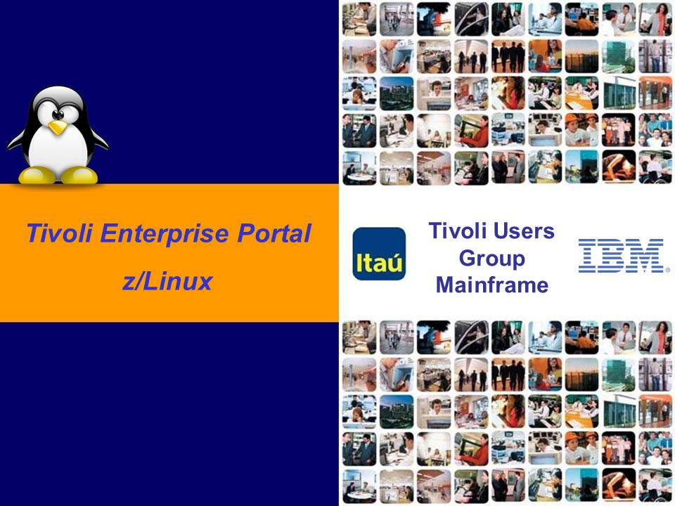 Tivoli Enterprise Portal Tivoli Users Group Mainframe