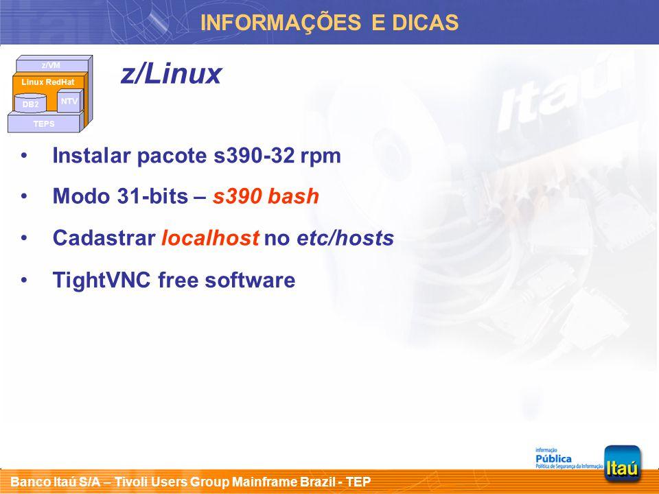 z/Linux INFORMAÇÕES E DICAS Instalar pacote s390-32 rpm