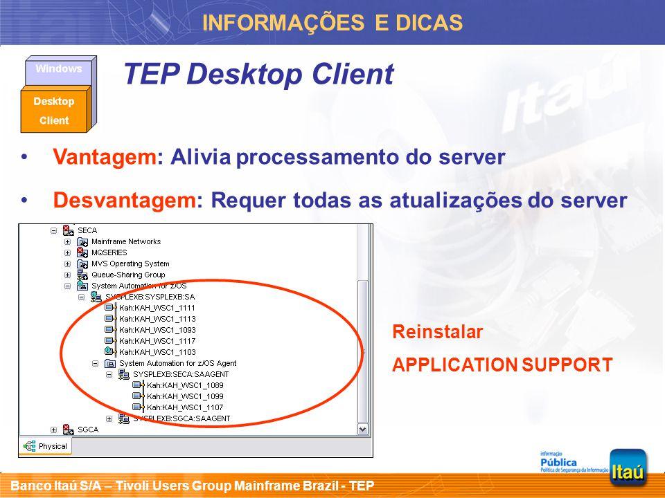 TEP Desktop Client INFORMAÇÕES E DICAS