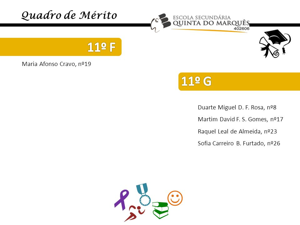     11º F 11º G Quadro de Mérito Maria Afonso Cravo, nº19