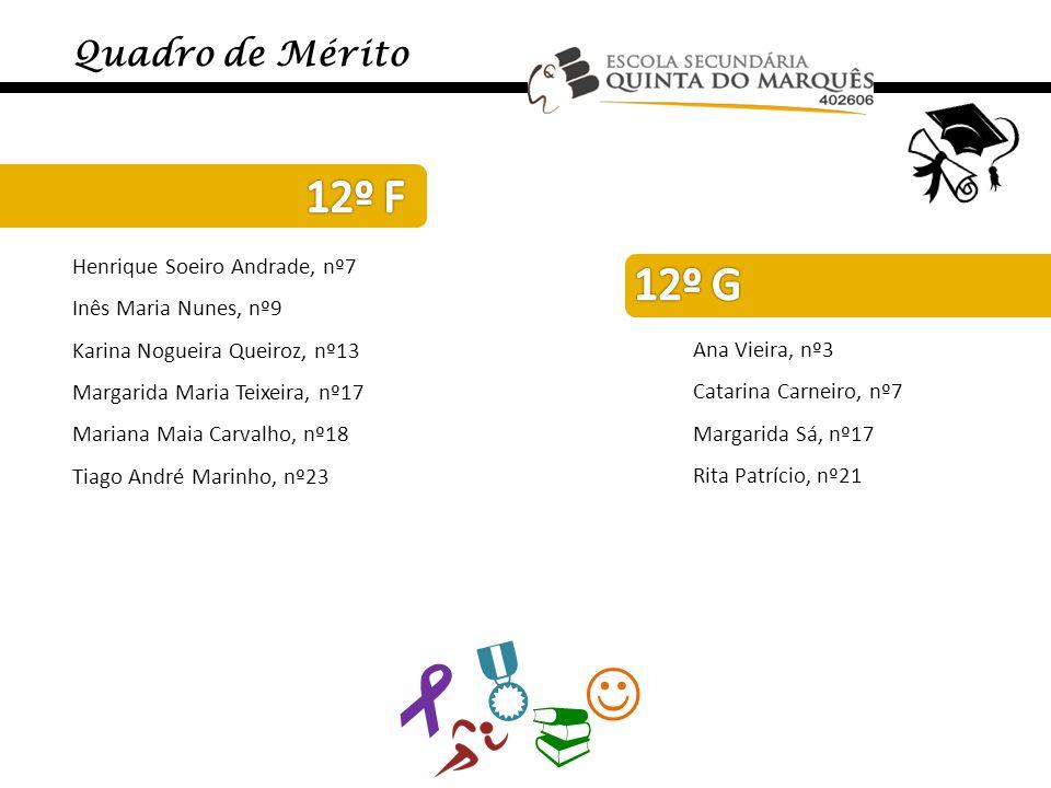     12º F 12º G Quadro de Mérito Henrique Soeiro Andrade, nº7