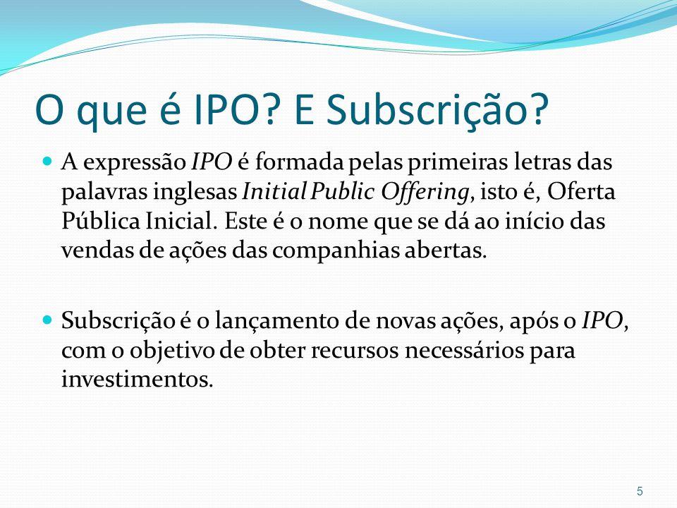 O que é IPO E Subscrição