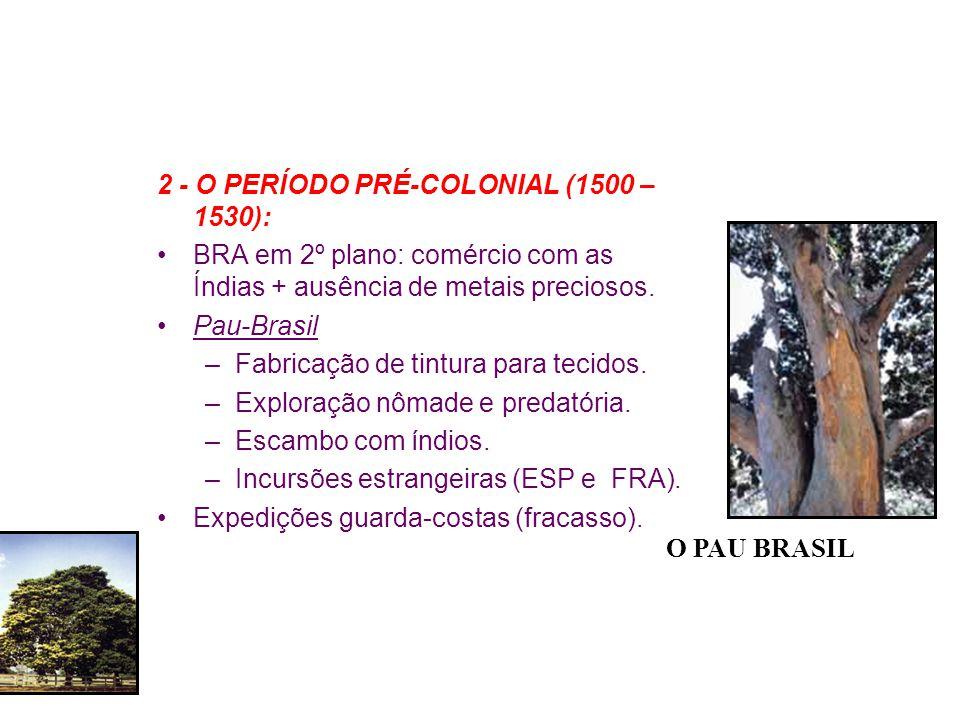 2 - O PERÍODO PRÉ-COLONIAL (1500 – 1530):