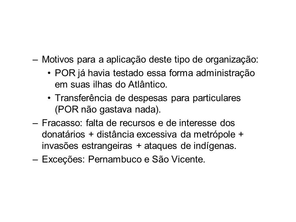 Motivos para a aplicação deste tipo de organização: