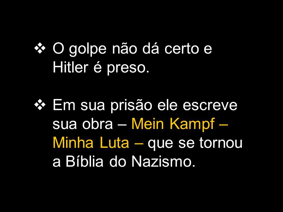 O golpe não dá certo e Hitler é preso.