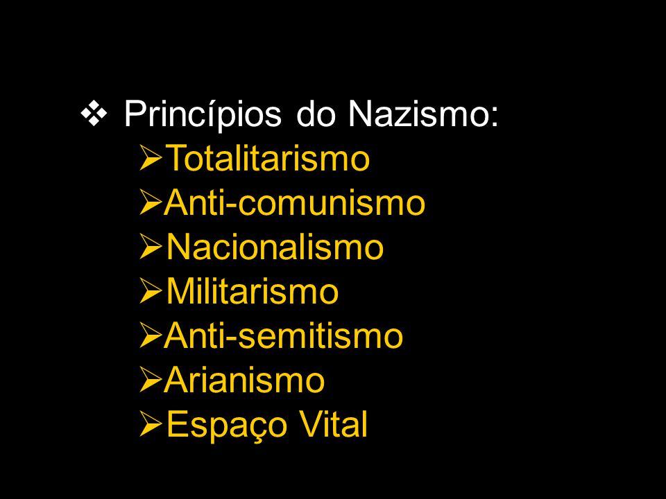 Princípios do Nazismo: