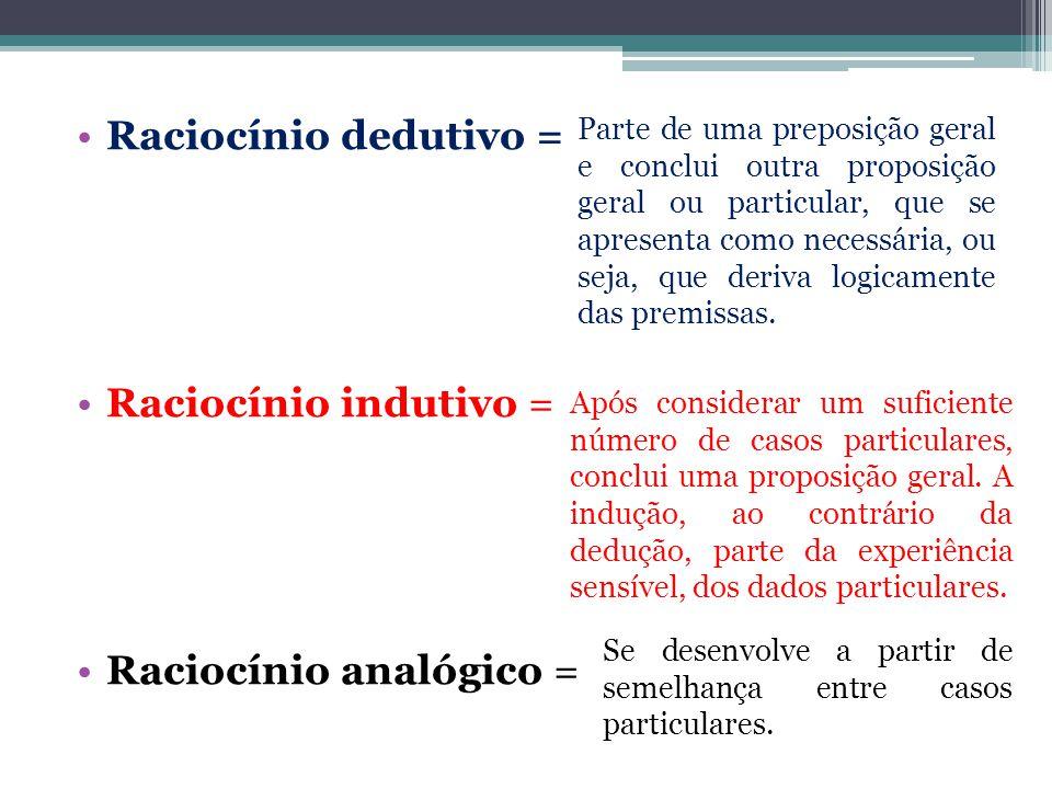 Raciocínio analógico =