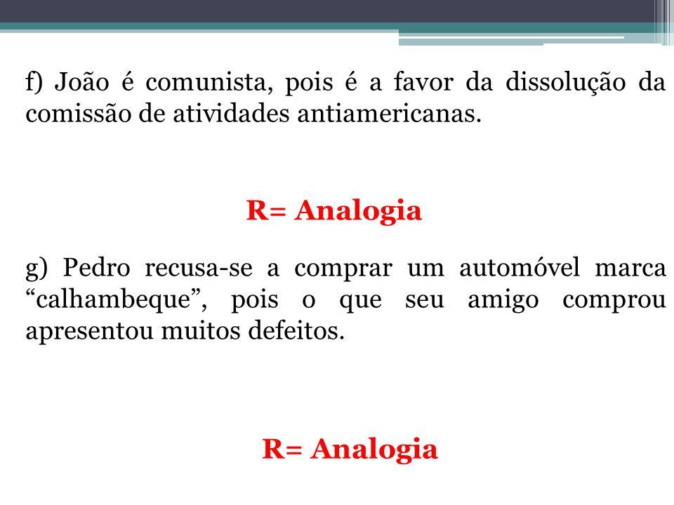 R= Analogia R= Analogia