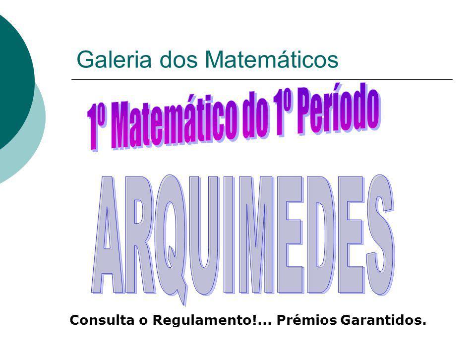 Galeria dos Matemáticos