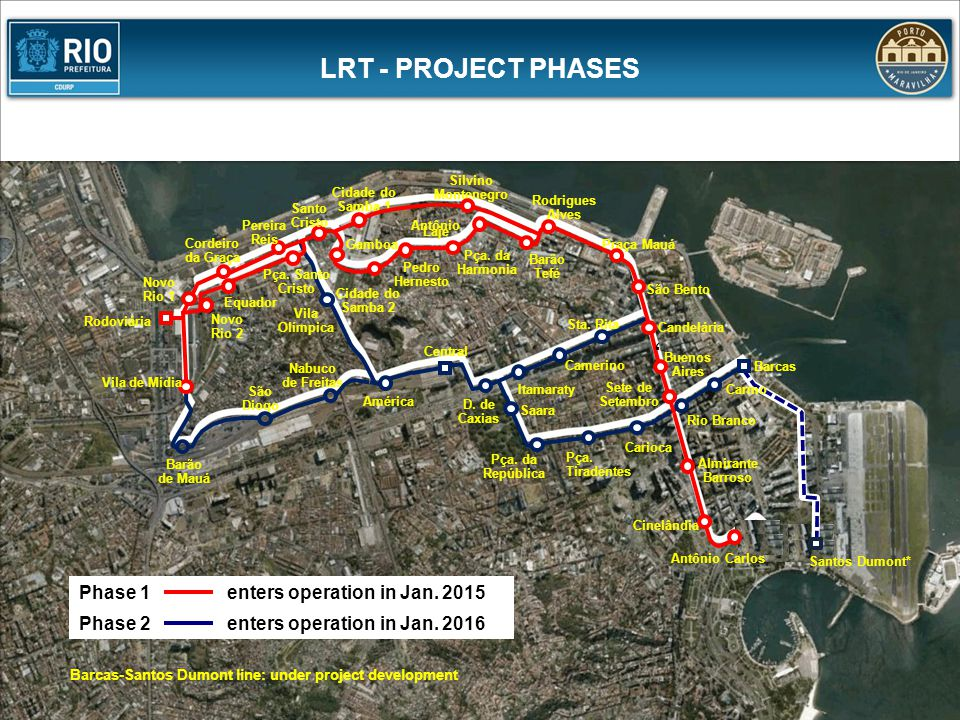 LRT - PROJECT PHASES ' Phase 1 enters operation in Jan. 2015