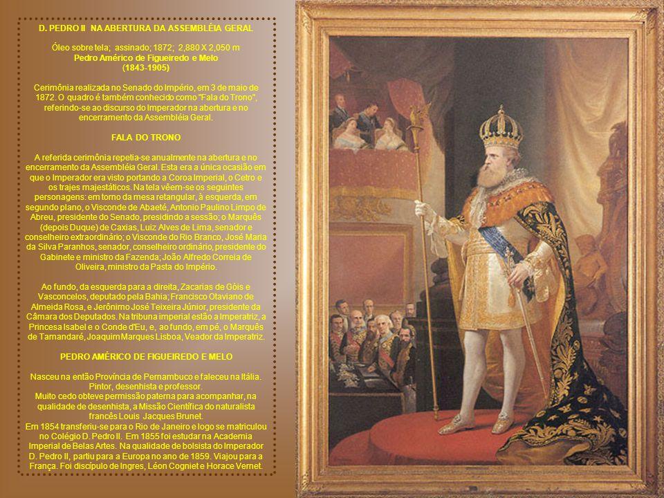 D. PEDRO II NA ABERTURA DA ASSEMBLÉIA GERAL