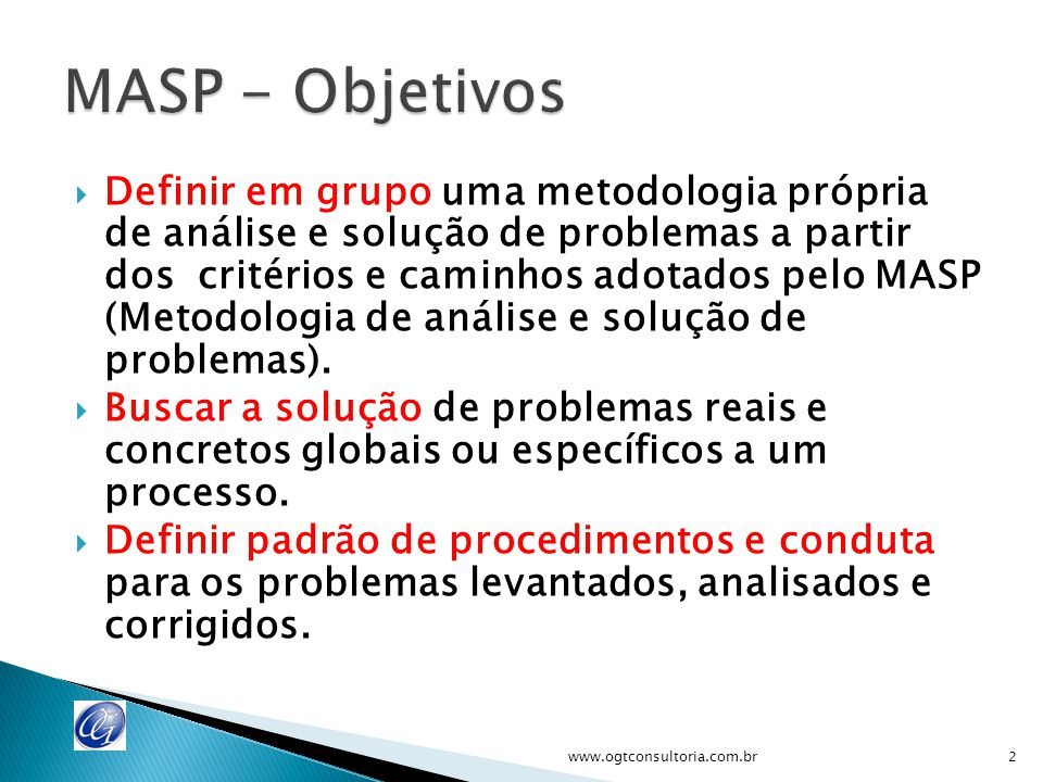MASP - Objetivos